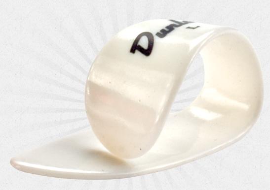Jim Dunlop White Plastic Thumbpick