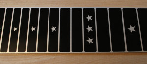 anodised aluminium screen printed fretboard